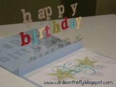 pop up birthday card. video tutorial at:  http://www.youtube.com/watch?v=IDodsjKFQ8A