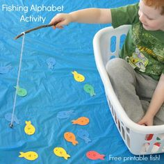 Play Fishing Alphabet Activity Fishing alphabet activity and dramatic play scene. A fun fish activity for kids!Fishing alphabet activity and dramatic play scene. A fun fish activity for kids! Preschool Learning, Educational Activities, Preschool Activities, Preschool Kindergarten, Ocean Activities, Fun Learning, Rainbow Fish Activities, Nursery Activities, Indoor Activities