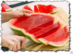 fill watermelon with jello, perfect!!!  https://www.facebook.com/video.php?v=786080748125920