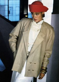 Georgiou, American Vogue, March 1986. Photograph by Peter Ogilvie.