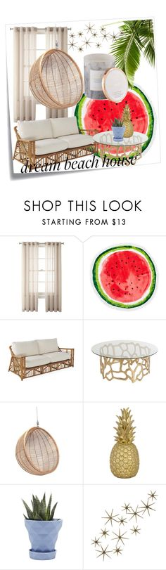 """Dream Beach House Vibes! 4/30/17"" by isabellabrena ❤ liked on Polyvore featuring interior, interiors, interior design, home, home decor, interior decorating, Post-It, Royal Velvet, Nordstrom Rack and Ciel"