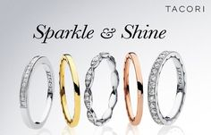 Sparkle in a beautiful Tacori band!  Wear alone, with an engagement ring, or stack 3 bands... make it uniquely you!