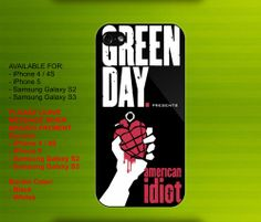 Green Day's American Idiot case for iPhone 4/4S iPhone 5 Galaxy S2/S3 #iPhonecase #iPhoneCover #3DiPhonecase #3Dcase #S4 #s5 #S5case
