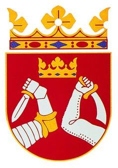 Karjalan vaakuna -- Karelia coat of arms Finland Classical Music Composers, Arctic Circle, Place Names, Malm, Crests, My Heritage, Coat Of Arms, My Children, Finland