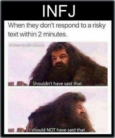 This is *so* me. Normally when I'm having to be harsh, honest or asserting boundaries... #INFJ
