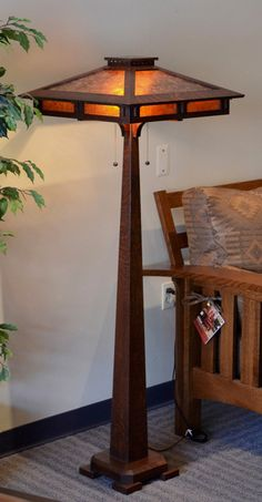 Prairie Craftsman Style Floor Lamp by Ragsdale Home Furnishings. Available at Oak Park Home & Hardware