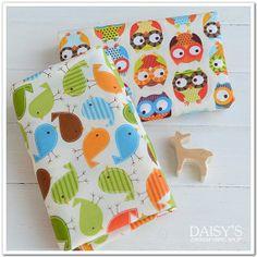 Cotton fabric, children fabric, animal fabric, 1m, cute fabric, owls fabric, baby fabric, birds fabric op Etsy, 7,20€