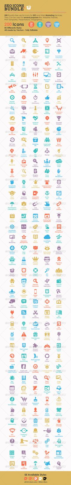 SEO Icons Bundle  -  PSD Template • Only available here! →…