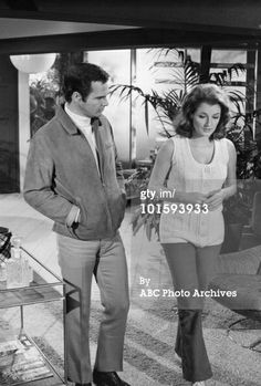 "Burt Reynolds + Diana Muldaur in ""Dan August"" (1971)"