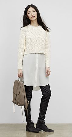 Our Favorite Fall Looks & Styles for Women | EILEEN FISHER  Lessons in Layering via EF  Lesson learnt is I need a crop knit top :)