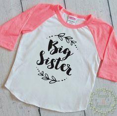 Big Sister Shirt Little Sister Shirt Girl Sibling Shirts Baby Announcement Shirt Girl Big Sister Outfit 121 #baby_announcement #baby_girl_clothes #big_sister
