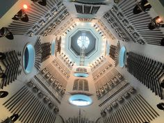 Looking up the inside of the #tower that is the 'Hall of Steel' at the Royal Armouries #Museum #Leeds. #weapons #collection #curation #art #history #war #peace #architecture #culture #design #travel #tourism #tourist #entsleeds #Yorkshire #England #IgersLeeds