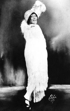 Bessie Smith -nicknamed The Empress of the Blues.  Smith was the most popular female blues singer of the 1920s and 1930s. She is often regarded as one of the greatest singers of her era and, along with Louis Armstrong, a major influence on subsequent jazz vocalists.