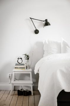 Ikea 'Bekväm' stool as nightstand || @sommerswim