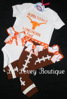 NCAA Texas Longhorns Girls Infant Longhorn State Tee Light Pink 12M