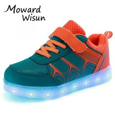 988642398d1e Good Quality USB LED Shoes Light Glowing Luminous Sneakers with light sole  for Kids Boys Girls Tenis LED Slippers Children