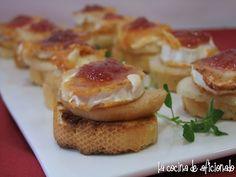 la cocina de aficionado: Tosta de queso de cabra a la plancha con pera