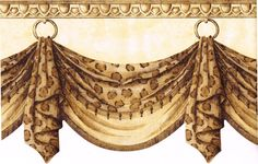 Shop Allen Roth 36 In L Onyx Emilia Waterfall Valance At