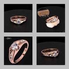 Autres Earnest Tout Nouveau Zircone Cristal Handmade Anneau Bague Fiançailles Mariage Size-8.25 Bijoux, Montres