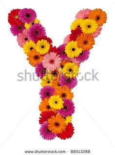 stock photo : Letter Y - flower alphabet isolated on white background