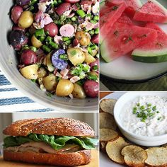 Pack a Healthy Picnic With These 10 Recipes Even if your idea of a perfect picnic is filled with classics like cold fried chicken, mayo-tossed potato salad, and a tall glass of lemonade, you can still add healthier options to lighten up your outdoor meal. These 10 healthy picnic recipes go as well with the classics as they do with each other — make one or make them all! Click through for our healthy picnic ideas.