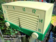 Truetone TUBE RADIO Retro repainted mid century gorgeous working two tone radio!