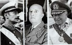 Jorge Rafael Videla, Augusto Pinochet y Francisco Franco Great Leaders, Thug Life, Captain Hat, Articles, World, Image, Augusto Pinochet, Assassin, Baddies