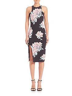 Elizabeth and James Leya Floral-Print Dress - Black- - Size 1