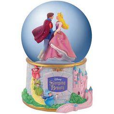 Sleeping Beauty Castle Water Globe