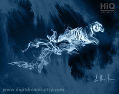 P003: Tiger Patronus by DigitDreams on Etsy