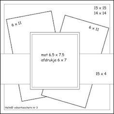 Best 12 Trendy Design Layout Square Scrapbook Pages Scrapbook Patterns, Scrapbook Templates, Scrapbook Sketches, Scrapbook Page Layouts, Card Sketches, Scrapbook Cards, Fun Fold Cards, Cool Cards, Card Making Templates