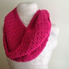 This is the best Bright and Berrylicious Infinity Scarf you can find. Crochet the perfect scarf for winter! | AllFreeCrochet.com