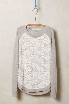 laceveil pullover / anthropologie Love It! Pretty Outfits, Cute Outfits, Raglan Pullover, Pullover Sweaters, Estilo Fashion, Mode Style, Sweater Outfits, Autumn Winter Fashion, What To Wear
