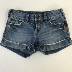 Silver denim Jean short Denim shorts. Good condition, comfortable fit. Silver Jeans Shorts Jean Shorts