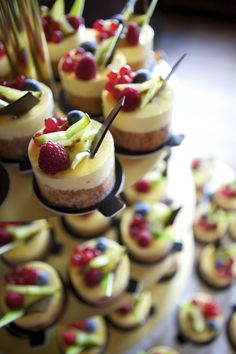 I don't like cheesecake but even I can appreciate how gorgeous these look. Photograph by Mark Bothwell