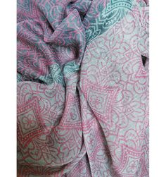 Geometric Flower Pink Scarf - The Scarves Company