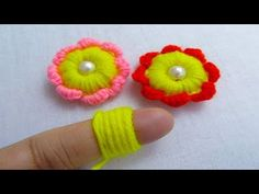 HI everyone, Wellcome to Nakshi Kantha World. This is hand embroidery channel. we want to sew different style hand embroidery,nakshikantha,stitch,basic stitc. Rose Applique, Flower Embroidery, Hand Embroidery, Embroidery Stitches Tutorial, Sewing Stitches, Crochet Flower Patterns, Crochet Flowers, Handmade Flowers, Diy Flowers