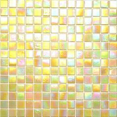 Kaleidoscope ColorGlitz Iridescent Glass Mosaic Tile, sold by the 1.15 s.f. sheet - Universal Yellow $15.95