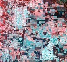 deforestation of the Amazon Basin seen in false colour image