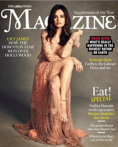 Lily James for The Times Magazine - 24th June 2017