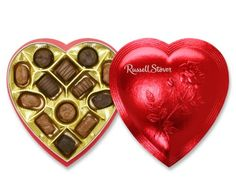 Assorted Chocolates Red Foil Valentine Heart Filled with assortment of delicious chocolate Candy Creams Chews Nuts Love Valentines, Valentine Heart, Valentine Day Gifts, Russell Stover, Heart Shaped Chocolate, Valentine Chocolate, Delicious Chocolate, Heart Shapes, Candy