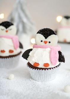 Chocolate penguin cupcakes recipe | The Little Blog Of Vegan