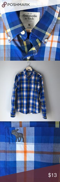Plaid Abercrombie Men's Button Down Shirt This is a very lightly worn great condition Abercrombie & Fitch Men's button down Shirt Abercrombie & Fitch Shirts Casual Button Down Shirts