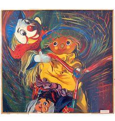 Zakochani (Lovers), year 1990, 92x80 cm.