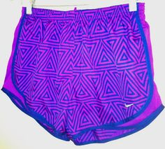 Purple nike tempo running shorts, love the print on these Nike Outfits, Sporty Outfits, Athletic Outfits, Athletic Wear, Summer Outfits, Athletic Shorts, Sporty Clothes, Nike Clothes, Athletic Clothes
