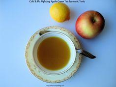 Cold & Flu Fighting Apple Green Tea Turmeric Tonic