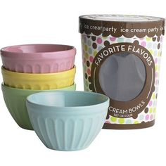 Ice Cream Bowl Set--I have these & LOVE them. They're great for oatmeal and cereal or for holding party dips.