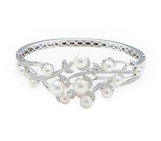 Rent jewelry - Diamonds: .66 TW | Gold: 18K White | Length: 6 1/2 in. | Width: 1  1/8 in.