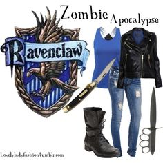 Ravenclaw Fashion during the Zombie Apocalypse Mode Harry Potter, Harry Potter Dress, Harry Potter Style, Harry Potter Outfits, Ravenclaw, Zombie Apocalypse Outfit, Apocalypse Fashion, Apocalypse Survival, Princesa Fiona