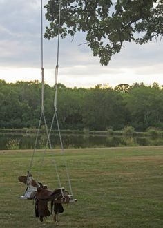 DIY Outdoor Horse And Saddle Swing